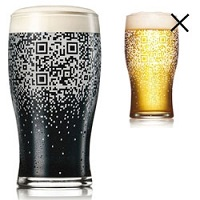 QR Code Beer Glass